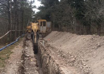 Gradnja vodovoda v občini Komen