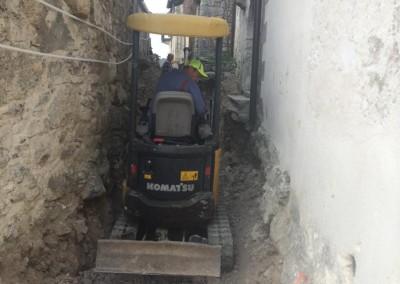 Izkop v ozkih ulicah
