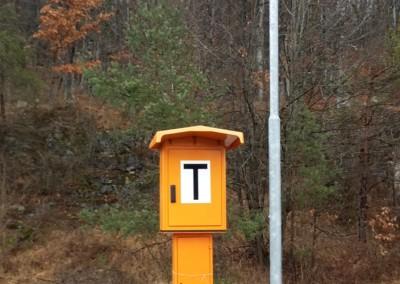 Telefonska govorilnica za komunikacijo med postajami