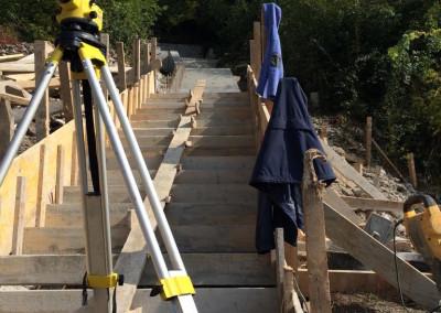 Urejanje komunalne infrastrukture pod kolodvorom v Postojni - stopnišče