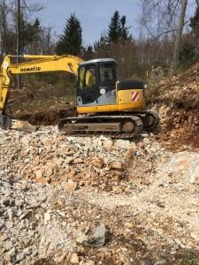 Izkop gradbene jame v 5.ktg. zemljine z vkopom v brežino za pretočno celico PC Mačkovec