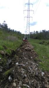 Izkop jarka za ozemljitev v III-V ktg. zemljine