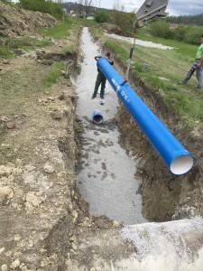 Vgradnja in montaža vodovodnih cevi na trasi VH Sovič - RO Zalog