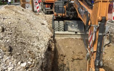 Gradnja odseka vodovoda Postojna – srednja cona do Kremence – Ulica 1. Maja