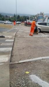 Utrjevanje podlage pred vgradnjo nosilne plasti asfalta z vibracijsko ploščo
