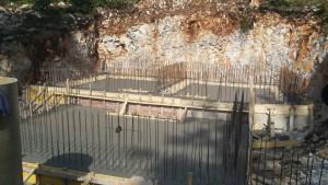 Betoniranje temeljne plošče z vodoneprepustnim betonom kvalitete C30/37