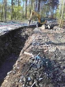 Izkop za izgradnjo vodovoda se izvaja v zemljini V. kategorije