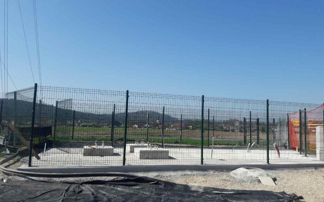 Gradnja bazne postaje Moste pri Komendi